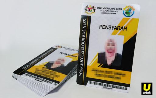 Tempahan Kad Pelajar Pvc Id Card Printing Ucetak Com